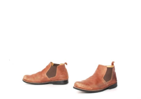 CHELSEA boots Men's Beatle Boots size 9.5 brown le