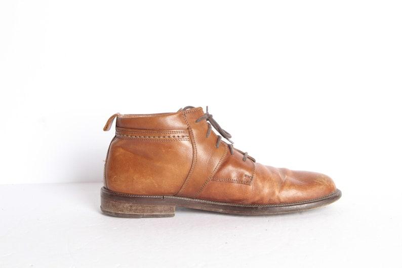 6bb31bd4d36b8 MEN'S size 10 D vintage chelsea boots chukka style brown leather BOOTS --  men's vintage boots