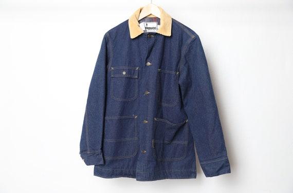 vintage denim men's CHORE jacket contrast corduroy