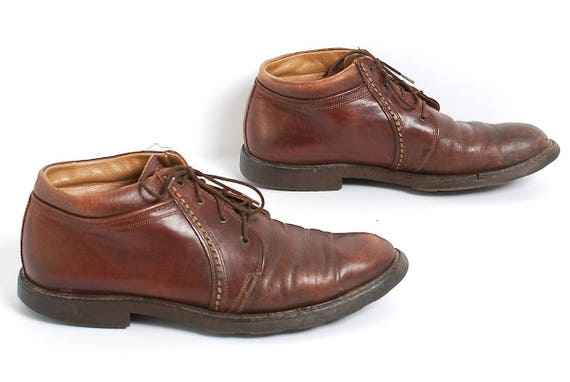 grunge size leather 8 lace 90s CHELSEA ankle brown mens OXFORD up boots boots xIwqBZg6g