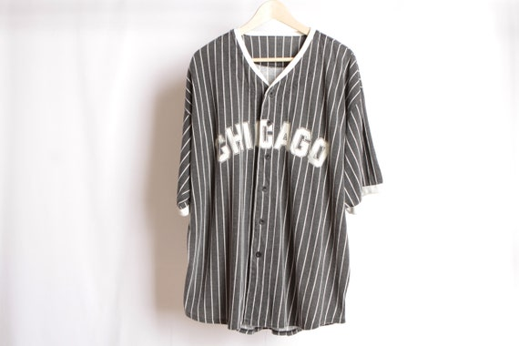 finest selection 590d9 432ee CHICAGO White Sox jersey BASEBALL pinstripe 90s super soft t-shirt MENS  size xl