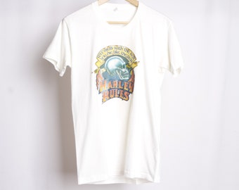 vintage HARLEY DAVIDSON 1970s biker vintage soft MEDIUM size men's t-shirt