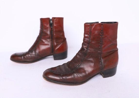 Vintage MEN'S BEATLE boots brown leather designer