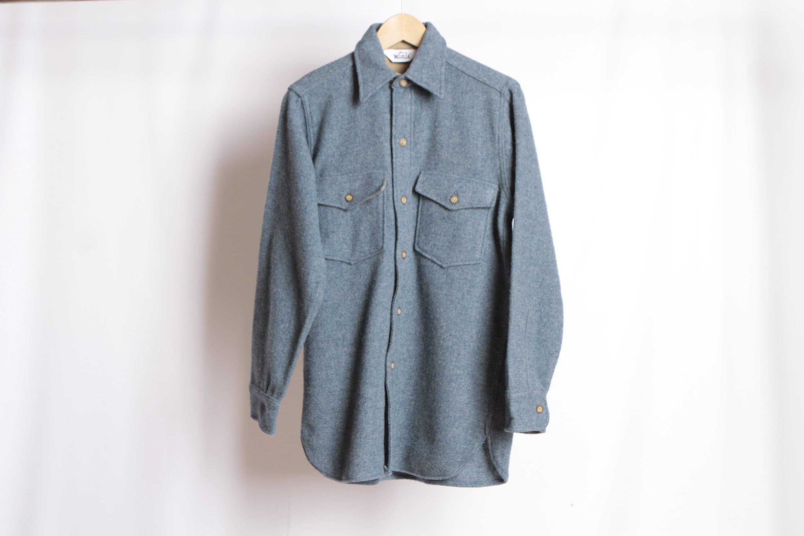 taille petit WOOLRICH style hommes années chemise 60 clair veste légère  épaisse chemise années flanelle de 71bf814f35d