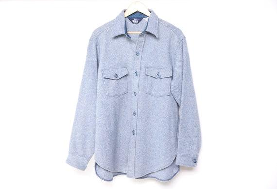 men's size medium WOOLRICH 1960s GREY blue wool FL