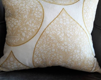 Tear Drop Shape Pillow.Black Oatmeal