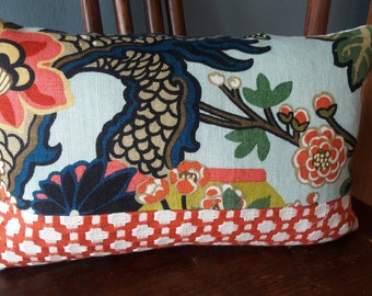 CHIANG MAI DRAGON/Betwixt Color blocked Pillow cover