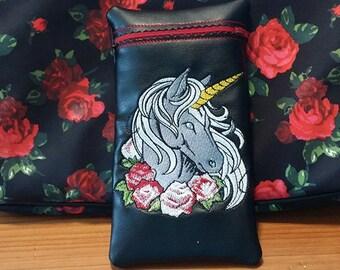 Unicorn glass pipe pouch