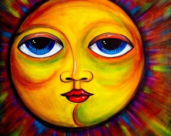 Desert Sun 16X16 Original Acrylic Painting on Canvas