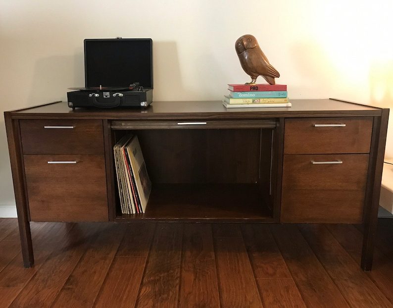 La Credenza On The Road : Mid century modern credenza media record player stand etsy