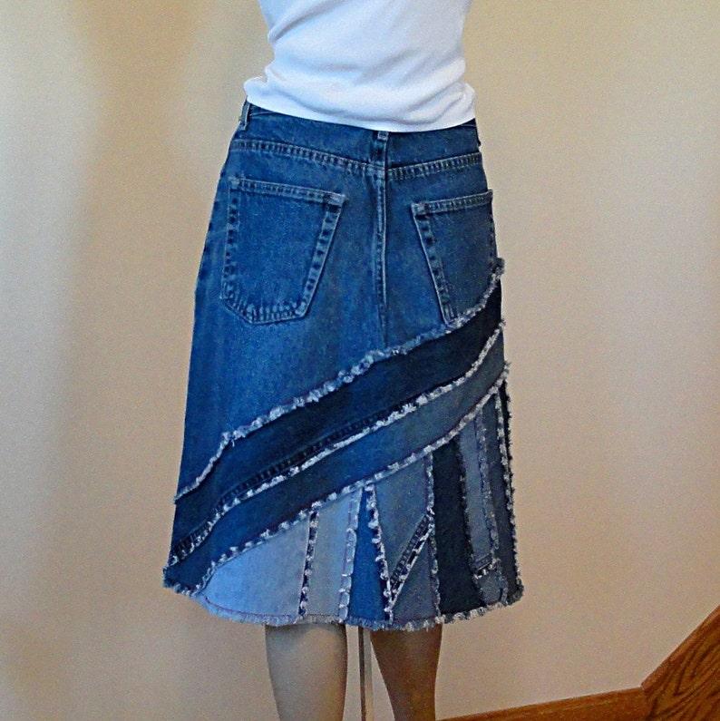 fd07d045a7 Falda de Blue Jeans Ella 2 día piezas falda de mezclilla