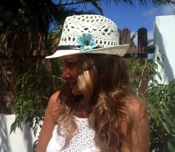 Boho hats for women, bohemian straw sun hat, fedora hat style, kekugi