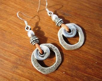 Womens dangle drop earrings, sterling silver earrings, charm stud earrings, Pesonalized gift