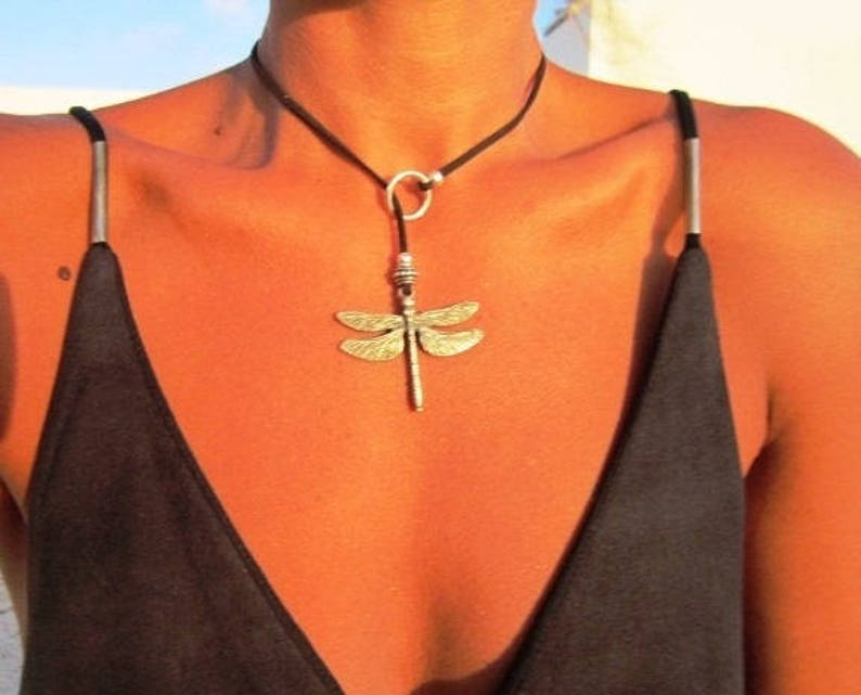 womens lariat necklace Dainty Necklace, Y necklace lariat necklace Y necklace beaded dragonfly necklace dragonfly jewelry