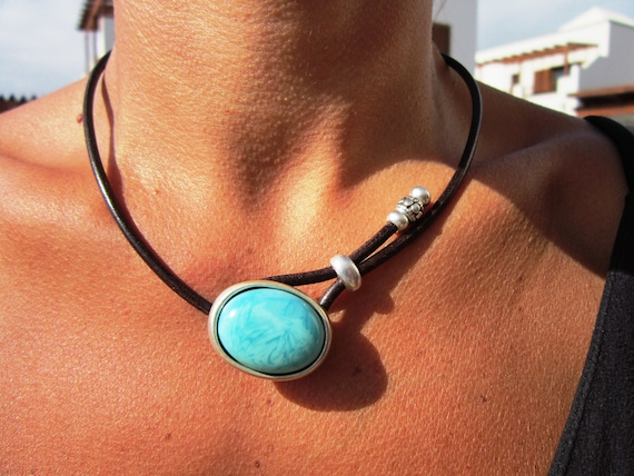 statement turquoise necklace choker, beaded necklaces for women