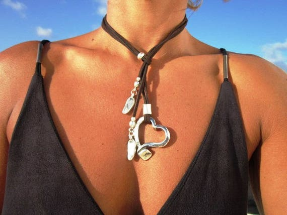 unique jewelry, silver heart pendant necklace, women choker necklace, silver heart, pendant necklaces