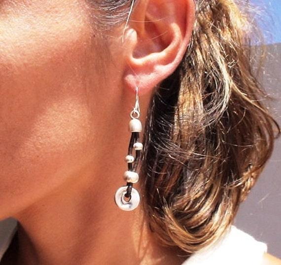 Long  dangle earrings, dangling earrings, cute earrings, earrings for women, sterling silver earrings, etsy jewelry, custom jewelry