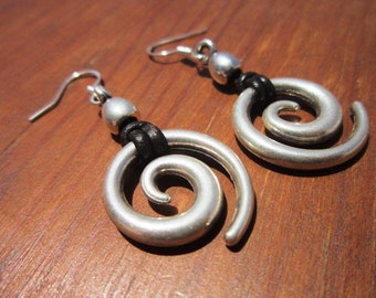 statement dangle hoop earrings, sterling silver earring hoops, bohemian drop earrings Set