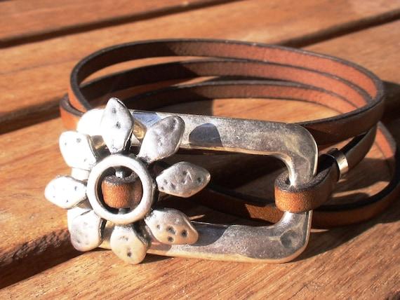 wrap bracelet, flower bracelet, camel bracelet, womens bracelets, silver bracelet, leather bracelet, beaded Bracelets, charm Bracelets