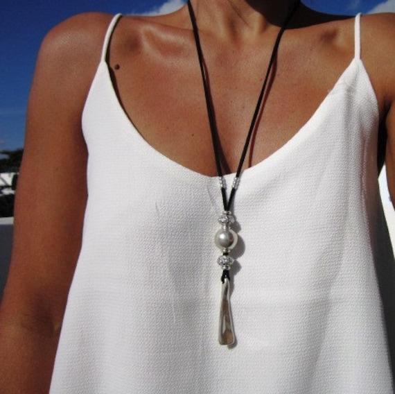 long necklace, pendant necklace, bohemian jewelry, sterling silver, silver necklaces, necklaces for women, womens necklace, sterling silver