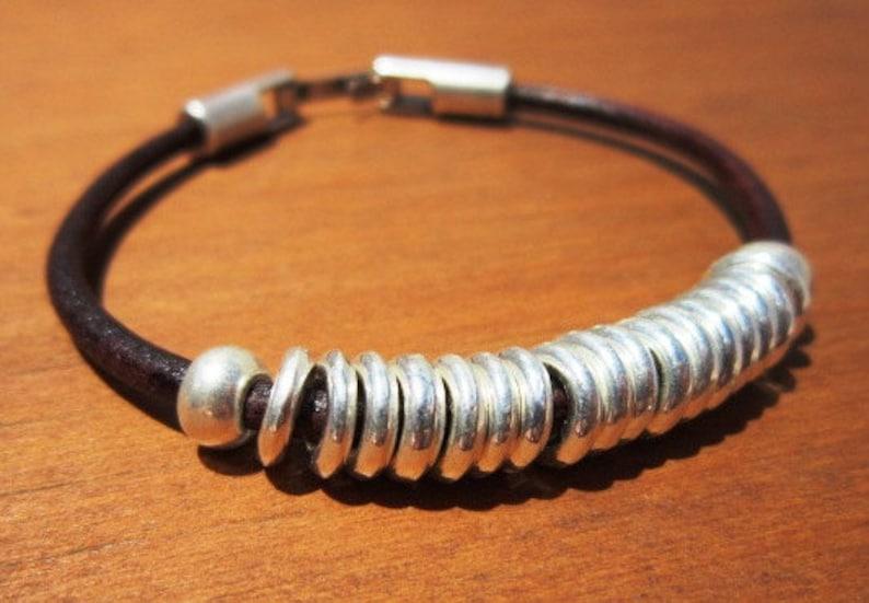 55eccb8fb2b9 Beaded bracelet silver bracelet runway trends fashion   Etsy