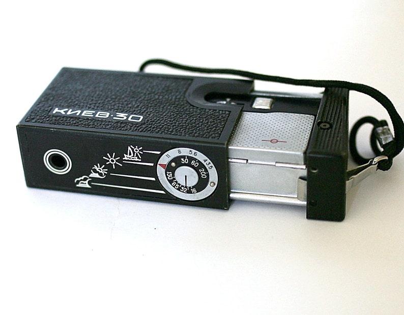 Mini Pocket Camera Kiev 30 Lomo Vintage Camera 1970s 1980s from Russia Soviet Union USSR