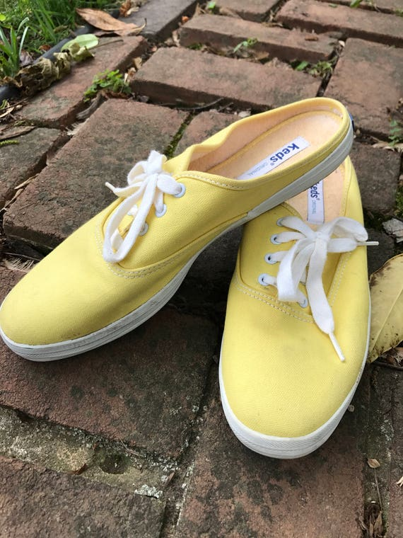 Backless Terrycloth Lined Vintage Keds