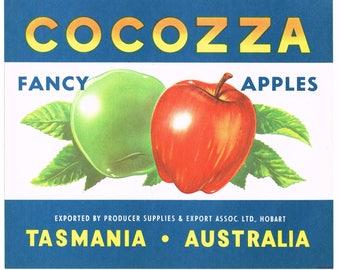 APPLE CRATE LABEL VINTAGE AUSTRALIA TASMANIA HOBART ASTRONOMY STARS FANCY