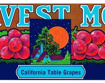 Harvest moon art | Etsy