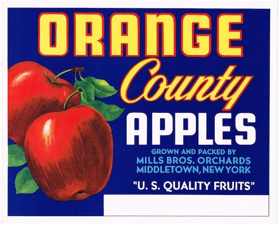 Sebastopol Sonoma County California Vine Hill Apple Fruit Crate Label Art Print