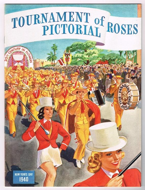 Pasadena Tournament of Roses Rose Parade Orange Citrus Fruit Crate Label Print