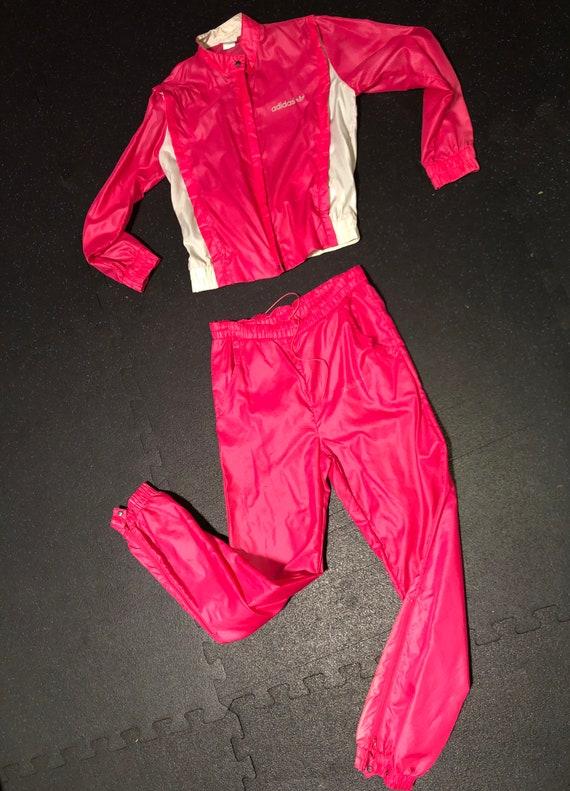 2pc Vintage Pink Adidas Track Suit