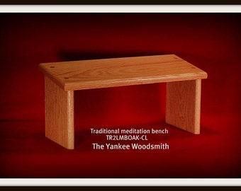 Yoga meditation bench - stool  (OAK)  Seiza bench -  Traditional Seiza Style Meditation bench.  Made on request.
