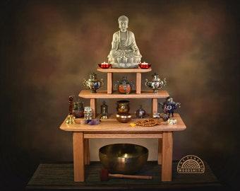 Three Tier Buddhist Meditation Altar (Free Shipping)