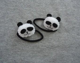 Panda Ponytail Holders