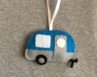 Camper Airstream Vintage Christmas Ornament in Felt Holiday Home Decor