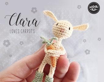 Amigurumi pattern - Clara loves carrots - Bunny with carrot - Doll crochet pattern - Decoration toy giftideas - Instant Pdf - by Polaripop