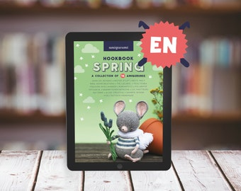 """E-BOOK: Amigurumi Collection """"Hookbook SPRING"""" - 16 spring related crochet patterns (animals+dolls) - 106 pages, Instant Pdf download"""