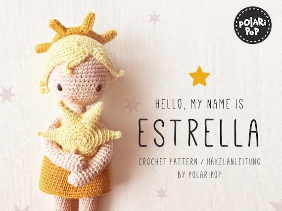Amigurumi Doll Pattern Estrella Crochet Angel Embracing Star Etsy