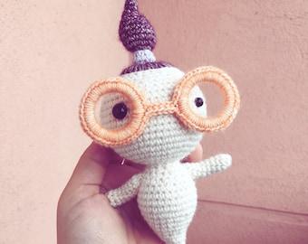 Baby BOOO & Mama HOOO (Amigurumi crochet toy pattern) Halloween Ghost Mum with Glasses + Female Ghost Kid - Instant Pdf - by Polaripop