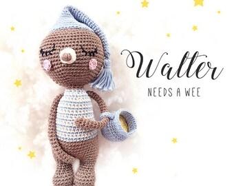 Amigurumi pattern - Crochet Bear - Educational Toy for Potty Training • Walter needs a Wee • Crochet pattern DE, EN - Instant Pdf Download