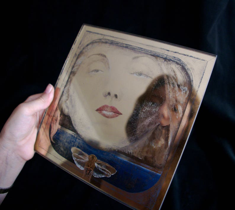 CLARICE LISPECTOR  Gilded / 22k / Moon Gold / eglomise / gold image 0