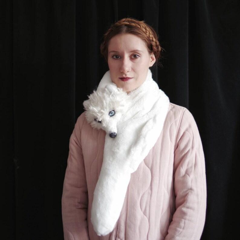 Vegan Fox Stole  needle felted / scarf / winter / faux fur / image 0