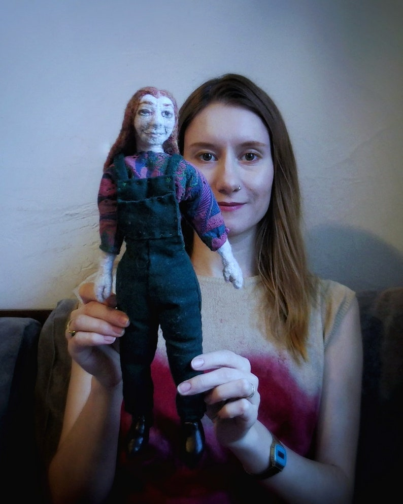 Willow Rosenberg doll  handmade / felt / buffy the vampire image 0