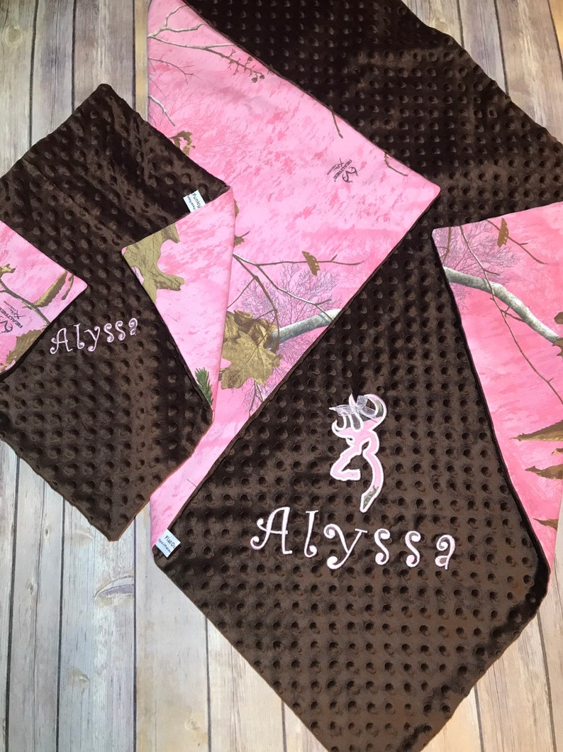 Mossy Oak Camo PInk Baby Blanket Camouflage Infant Girl