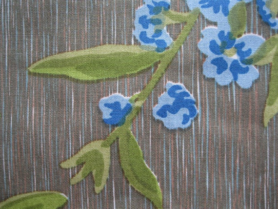 Vintage 1950s Upholstery Fabric Sailcloth Yardage Green Etsy