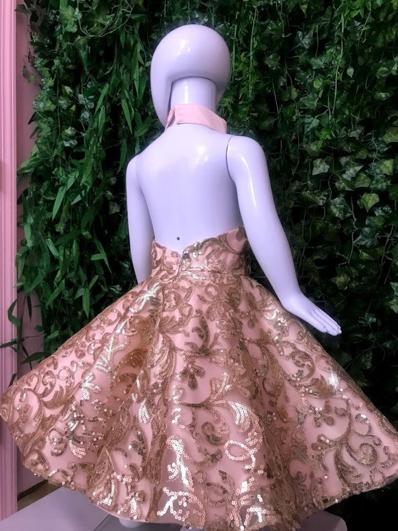Marcy Halter Dress birthday flower girl specisl Occasion dress