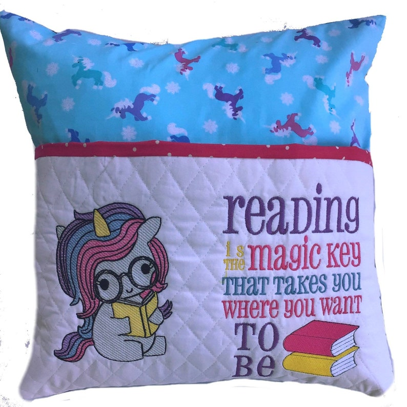 Little Unicorn Reading Pillow Little Girl Book Pillow Baby image 0