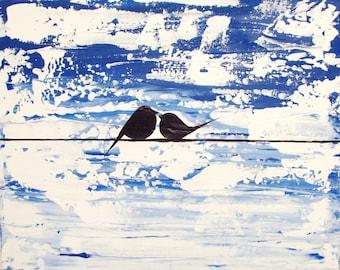 love bird landscape abstract bird painting color nursery canvas wall art pop abstraction contemporary art
