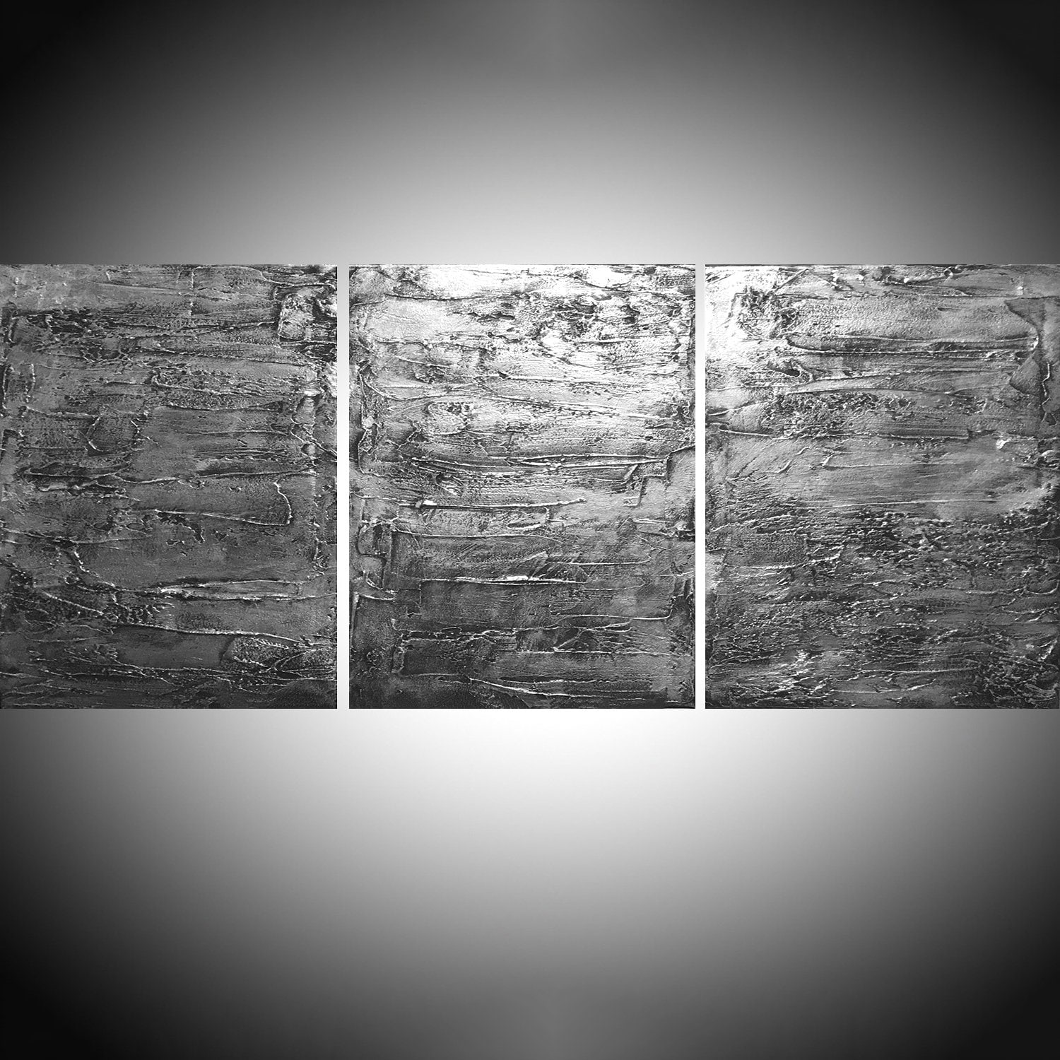 Extra LARGE WALL ART triptych 3 panel wall metal art   Etsy